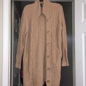 Tan sweater button down xl
